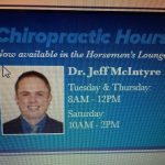 Dr. McIntyre to provide chiropractic services in 2019